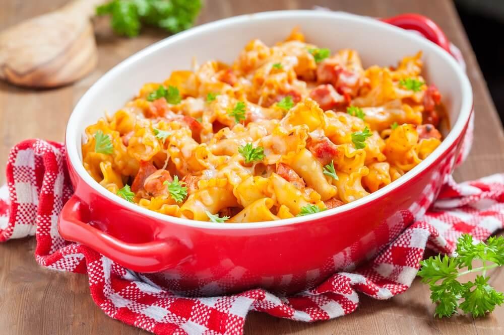 Zapiekanka z kurczakiem i warzywami - szybki obiad